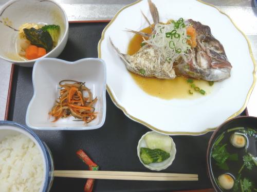 鯛のかぶとポン酢蒸しコース